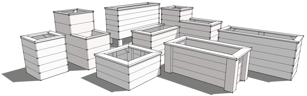 3D planter box and raised garden bed design process