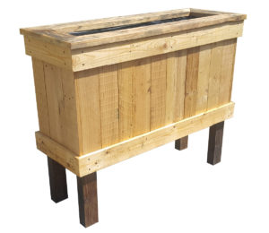 Recycled timber wicking planter box