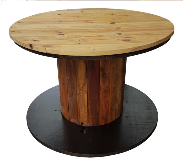Recycled spool table