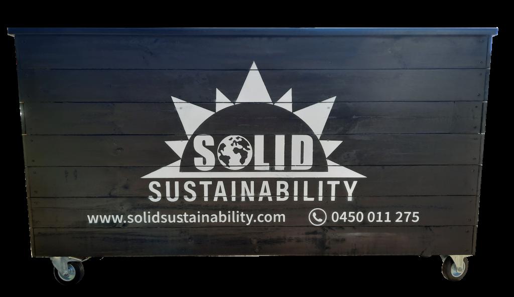 outdoor dining planter box sprayed