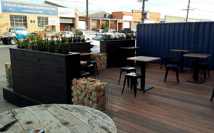 Industria Cafe outdoor dining