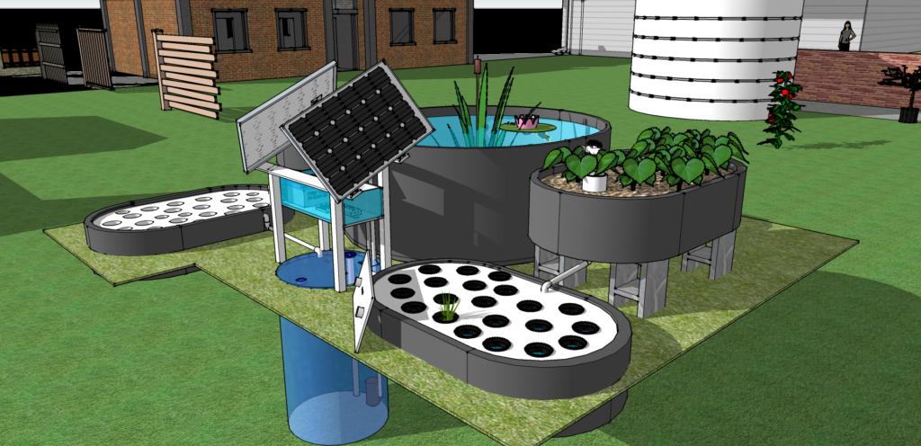 aquaponics 3d design